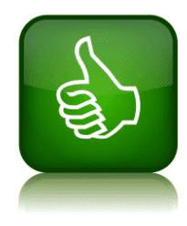 Un pouce vert vert le haut : avantages