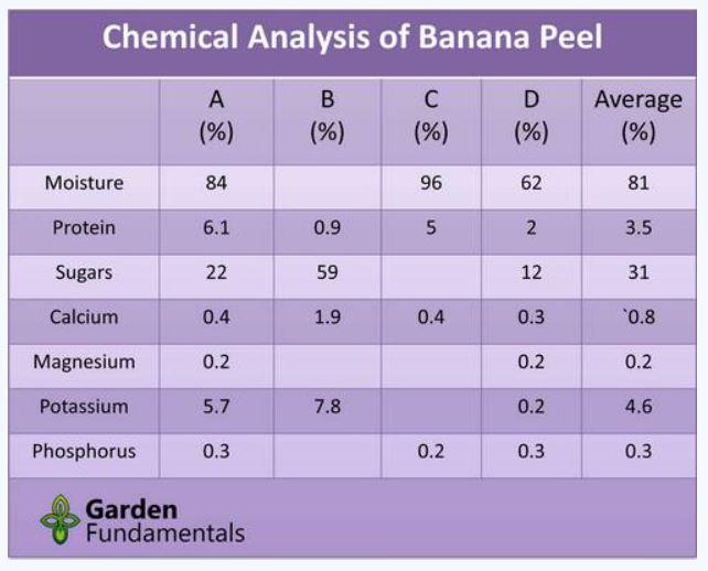composition chimique peau de banane