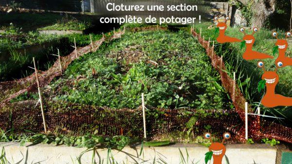 le filet à limaces springday est une barrière anti limaces naturelle