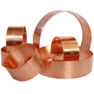 les anneaux de cuivre comme barrière aux limaces